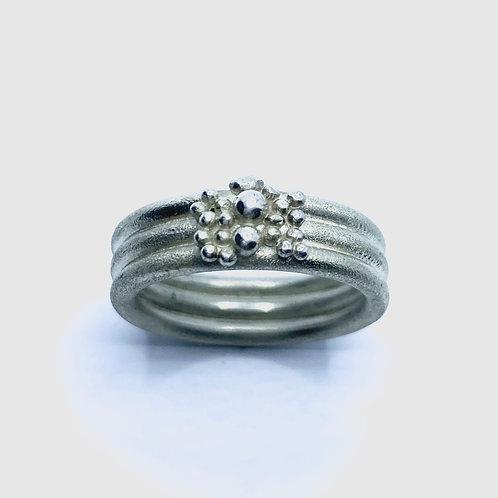 Wedding band 925 Silver / Gold/ Platinum unisex ring