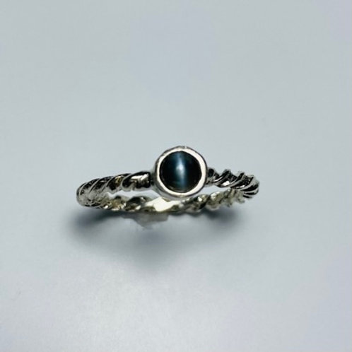 0.35cts Natural Alexandrite cat's eye 925 Silver / Gold/ Platinum ring