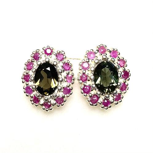 Natural Kornerupine 925 Silver/ Gold /Platinum earrings