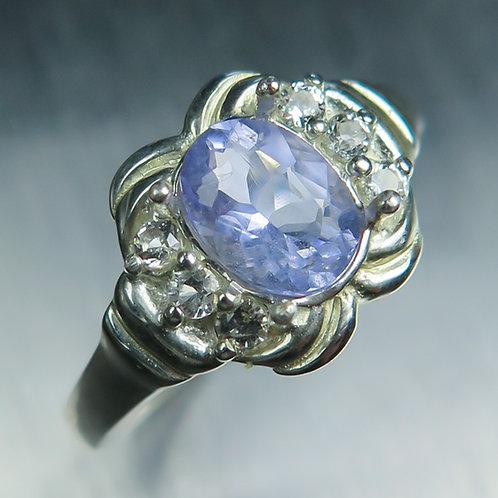 RARE Natural lavenderblue HACKMANITE925 Silver/ Gold/ Platinum ring