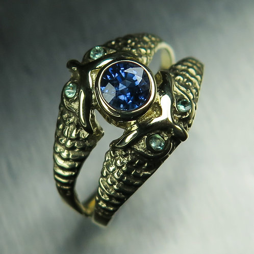 Natural Cornflower Blue Sapphire 925 Silver/ Gold/ Platinum ring