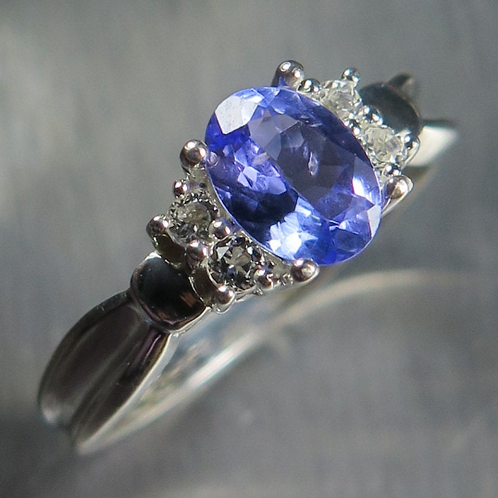 0.85ct Natural Tanzanite 925 Silver / Gold/ Platinum unisex ring