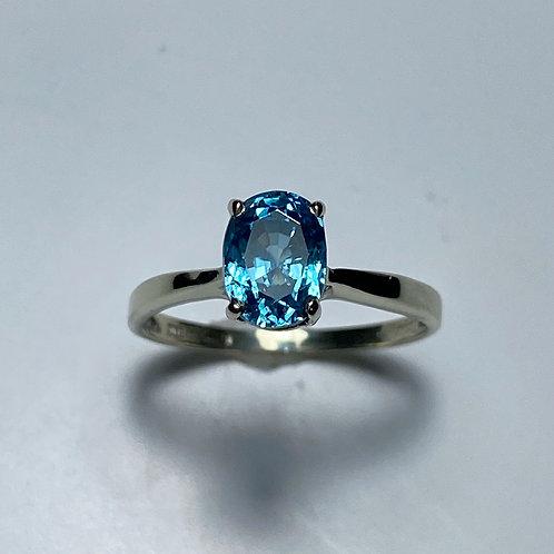 2.1ct Natural Paraiba blue Zircon 925 Silver / Gold/ Platinum ring