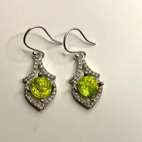4.5cts Natural Titanite Sphene Silver/ Gold/Platinum drop earrings