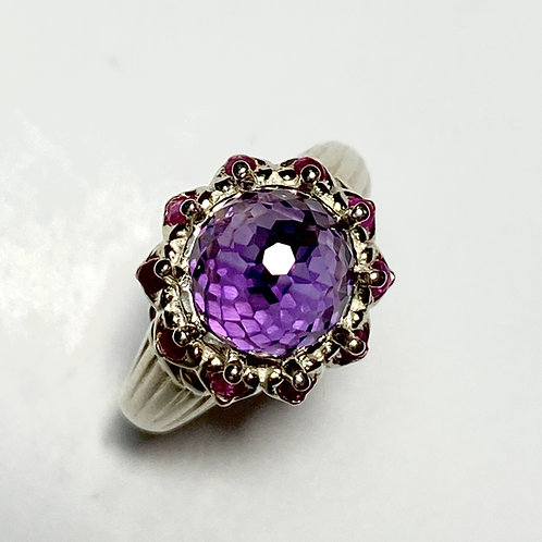 4.4ct Natural Amethyst Purple Violet 925 Silver / Gold/ Platinum ring