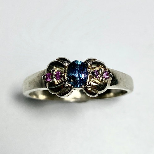 0.2ct Natural Alexandrite Colour Change 925 Silver / Gold/ Platinum ring