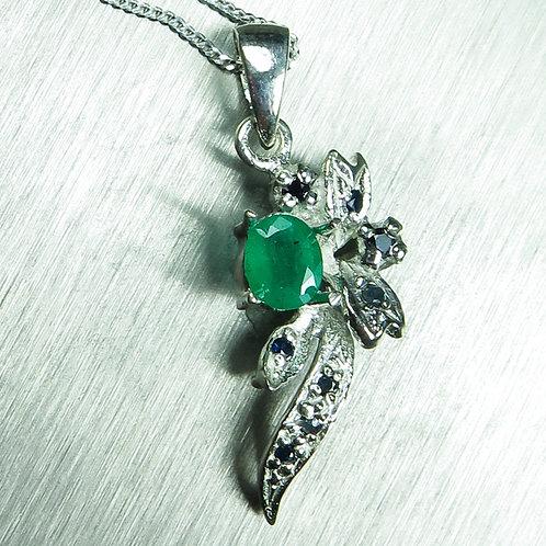 0.4ct Natural Emerald 925 Silver / Gold / Platinum pendant