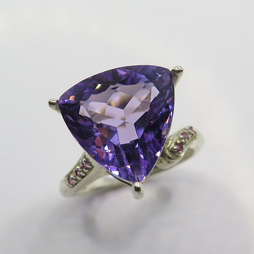6.25ct Natural Amethyst 925 Silver / Gold/ Platinum