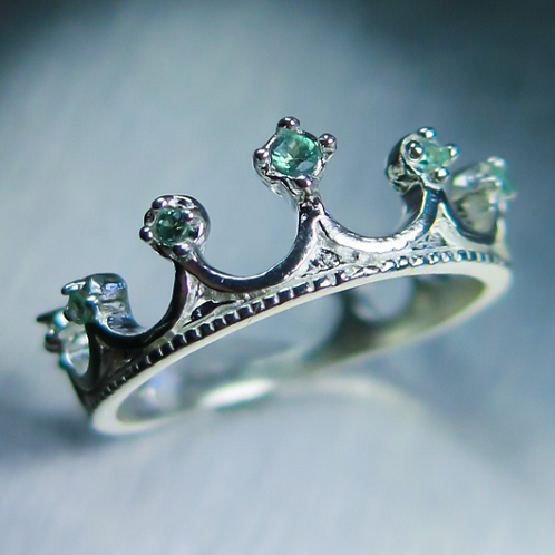 Natural colour change Alexandrites 925 Silver / Gold/ Platinum crown ring
