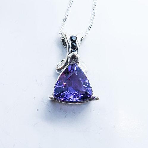 Natural Amethyst Silver / Gold / Platinum pendant