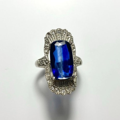 7.5cts Natural Blue Kyanite 925 Silver / Gold/ Platinum ring