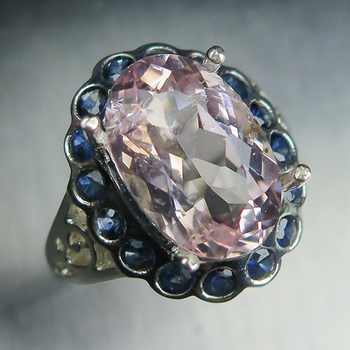 4.4ct Natural Pink Morganite Beryl 925 Silver / Gold/ Platinum ring