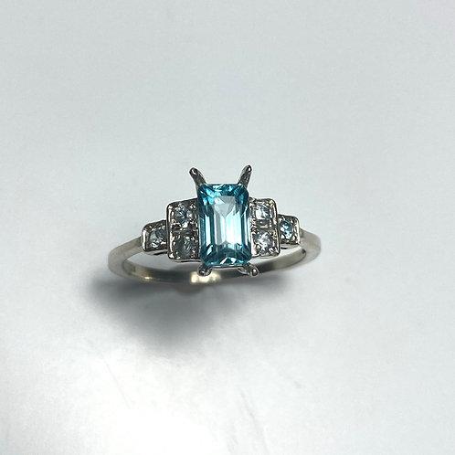 1.45ct Natural Paraiba Blue Zircon 925 Silver / Gold/ Platinum ring