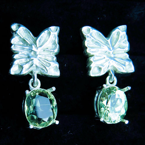 3.1cts Natural Diaspore Silver /Gold / Platinum stud butterfly ear