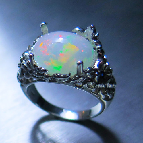 4.15ct Natural Welo Opal 925 Silver / Gold/ Platinum ring