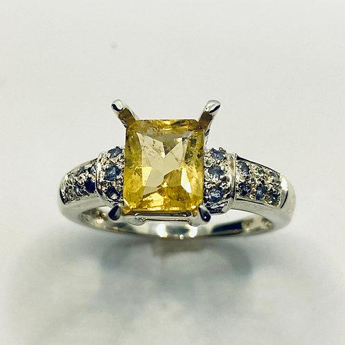 1.2cts Natural Rare Golden Yellow Danburite 925 Silver / Gold/ Platinum ring