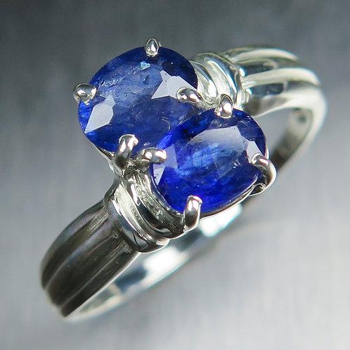 2.6cts Natural royal blue Sapphires Star 925 Silver / Gold/ Platinum r