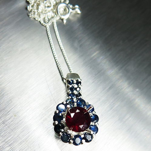2.45ct Natural Pigeon Blood red ruby Silver / Gold / Platinum pendant