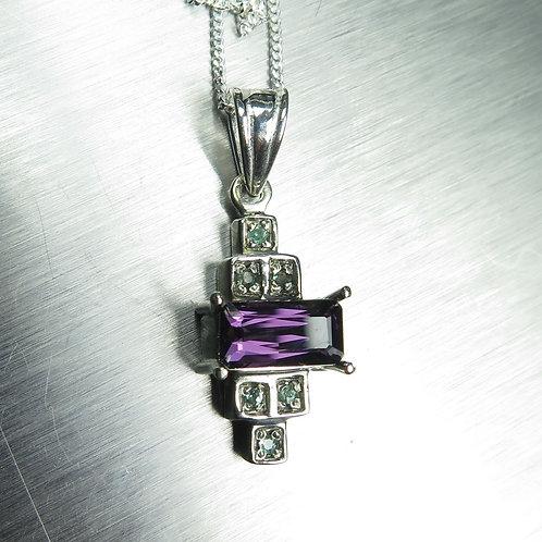1.35ct Natural purpleSpinel Silver / Gold / Platinum art deco p