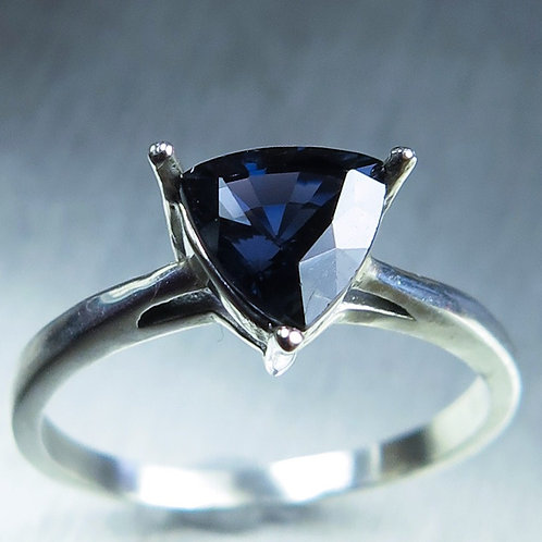1.35ct Natural Midnight Blue Spinel 925 Silver / Gold/ Platinum ring