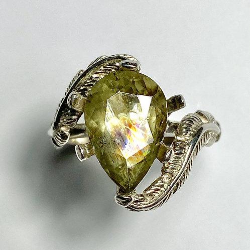 4.2ct Natural Colour Change Diaspore 925 Silver / Gold/ Platinum ring
