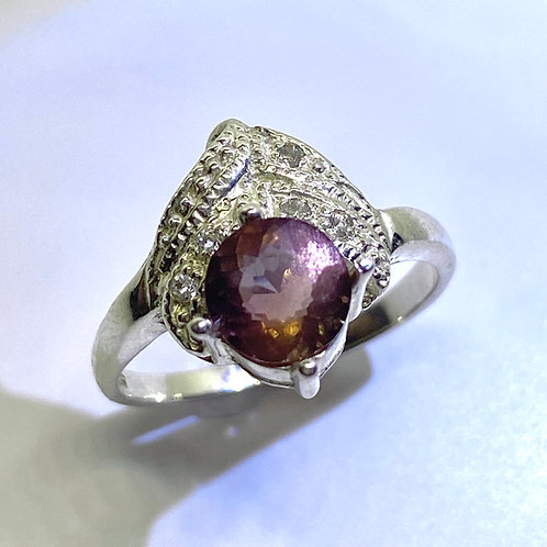 1.05ct Rare Natural Andesine Labradorite 925 Silver / Gold/ Platinum ring