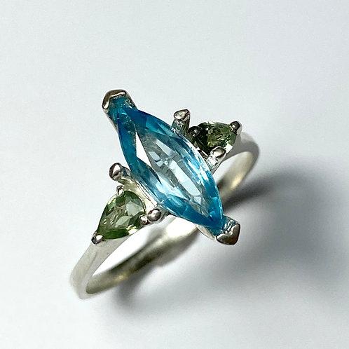 1.8ct Natural Paraiba blue Zircon 925 Silver / Gold/ Platinum ring