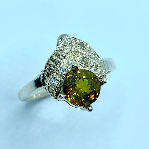 1.45ct Natural Titanite Sphene 925 Silver / Gold/ Platinum ring