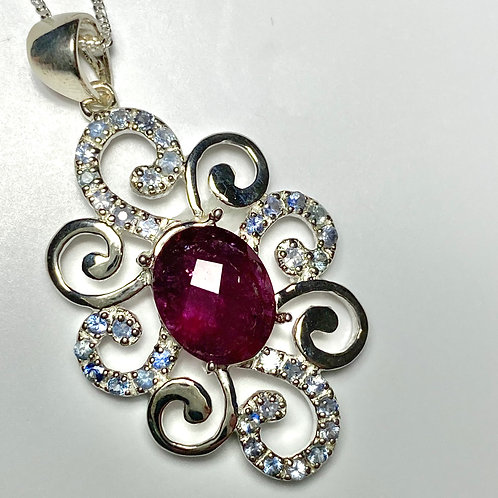2.75cts Natural pink-red Rubellite tourmaline Silver / Gold / Platinum p