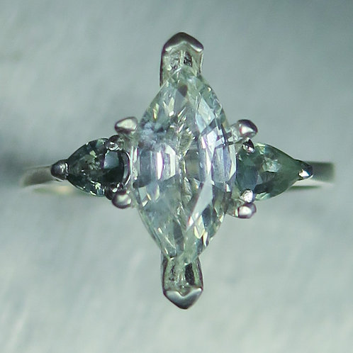 1.85ct Natural Chrysoberyl 925 Silver / Gold/ Platinum ring