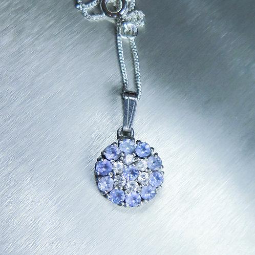 11pcs Natural purple-blue tanzanite Silver / Gold / Platinum pendant
