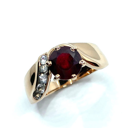2.5cts Natural Ruby 925 Silver / Gold/ Platinum engagement ring