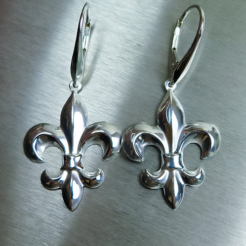 Royal lily 925 Sterling Silver / Gold/ Platinum drop earrings