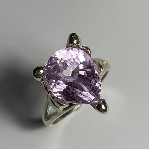 7.85ct Natural Pink Kunzite 925 Silver / Gold/ Platinum ring