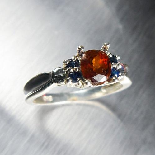 1.25ct Natural Bastnasite (Bastnaesite) 925 Silver / Gold/ Platinum ring