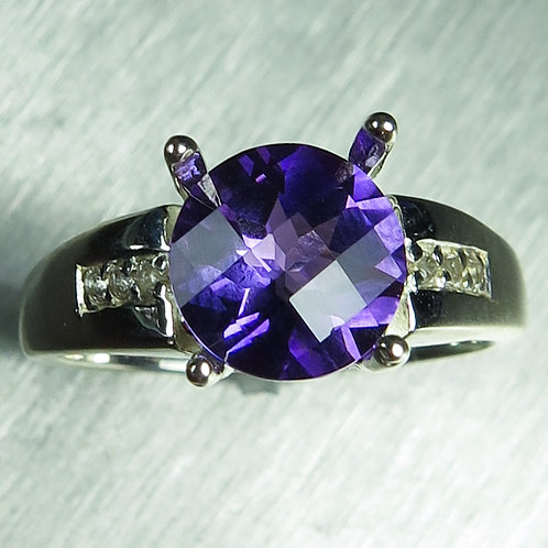 1.70ct Natural Amethyst 925 Silver / Gold/ Platinum ring