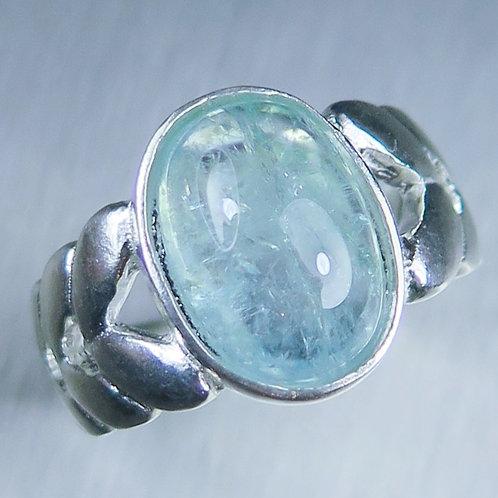 6.8cts Natural Paraibablue tourmaline 925 Silver / Gold/ Platinum unisex ring