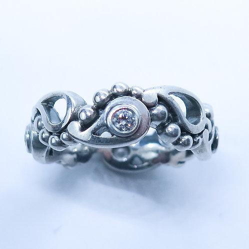 Natural Diamonds 925 Silver / Gold/ Platinum heart engagement proposal ring