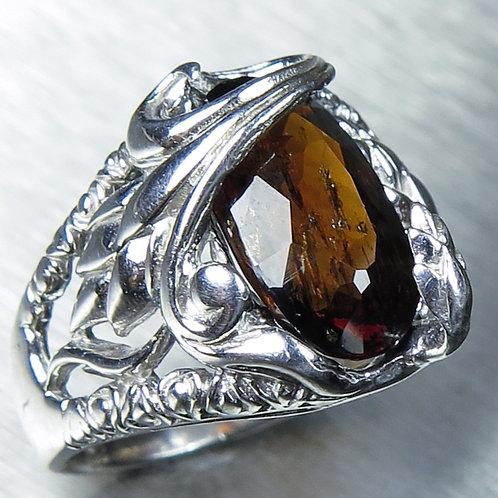 4cts Natural Enstatite dark brown 925 Silver / Gold/ Platinum ring