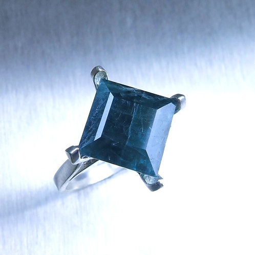 5.1cts Natural RARE Grandidierite 925 Silver / Gold/ Platinum ring