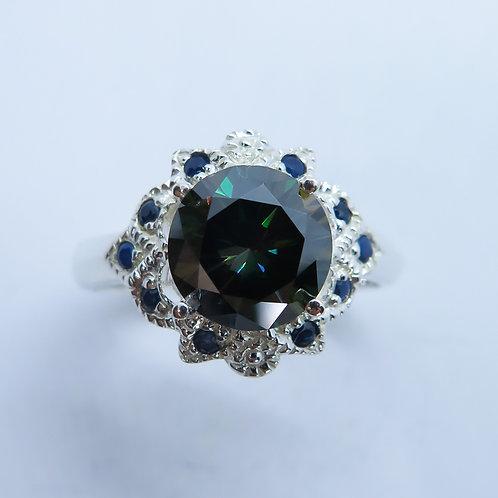 2.2ct Moissanite Lab Diamond 925 Silver / Gold/ Platinum ring