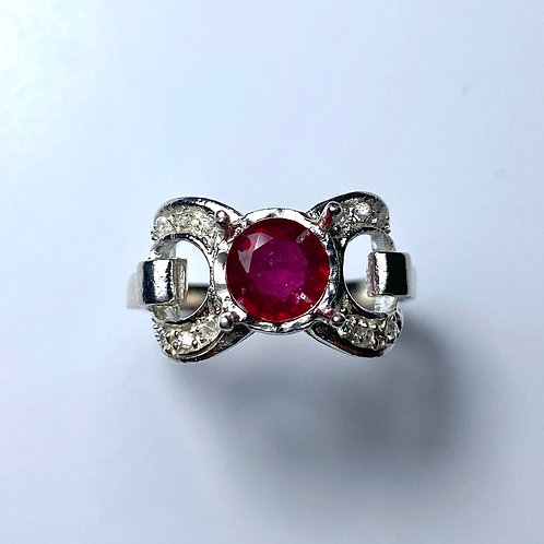 1.2cts Natural Ruby 925 Silver / Gold/ Platinum ring