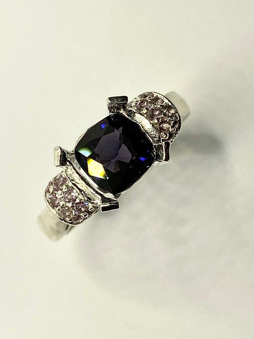 1.95ct Natural Purple blue Spinel 925 Silver / Gold/ Platinum ring