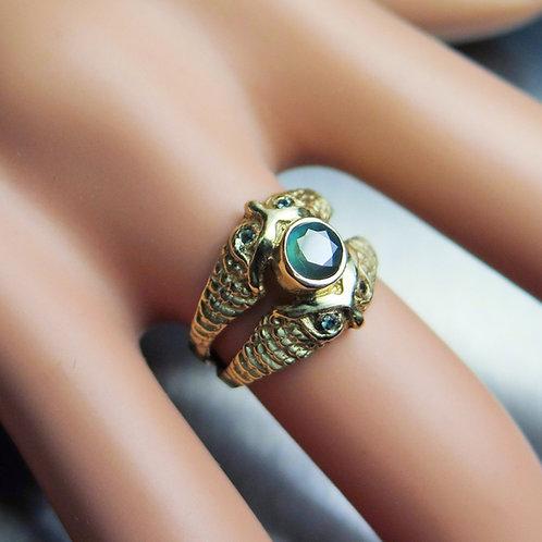 Natural Alexandrite colour change 925 Silver / Gold/ Platinum owls ring