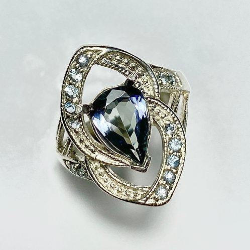 2ct Natural Blue  Tanzanite 925 Silver/ Gold/ Platinum ring
