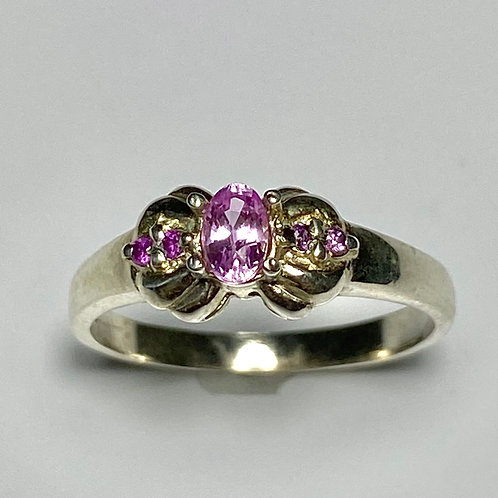 0.4ct Natural Pink Sapphire 925 Silver / Gold/ Platinum ring