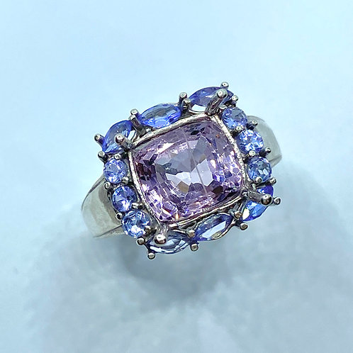 3.3ct Natural Pink Purple Spinel 925 Silver / Gold/ Platinum ring