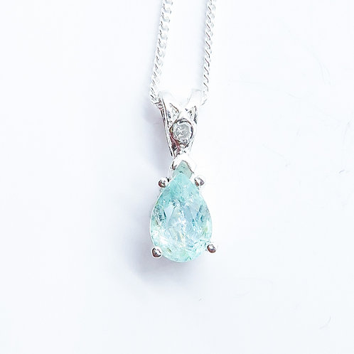 Natural paraiba blue Tourmaline Silver / Gold / Platinum pendant
