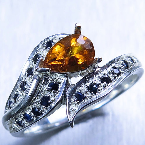 0.7ct Rare Natural Clinohumite 925 Silver / Gold/ Platinum ring