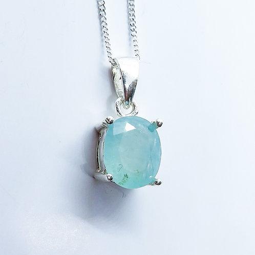 1.8ct Natural blue Grandidierite Silver / Gold / Platinum pendant